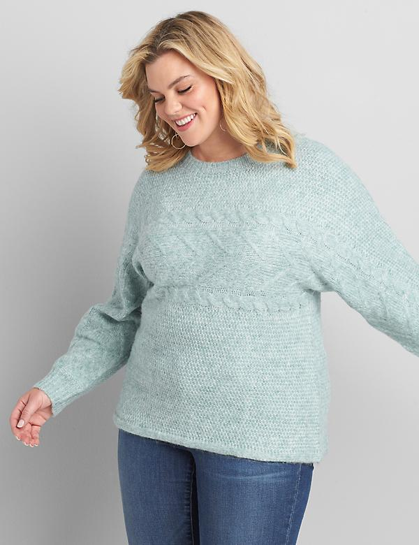 Chunky Cable-Stitch Pullover Sweater