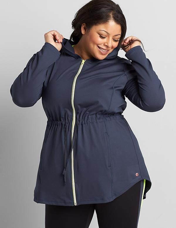 LIVI Zip-Front Hooded Jacket With Wicking