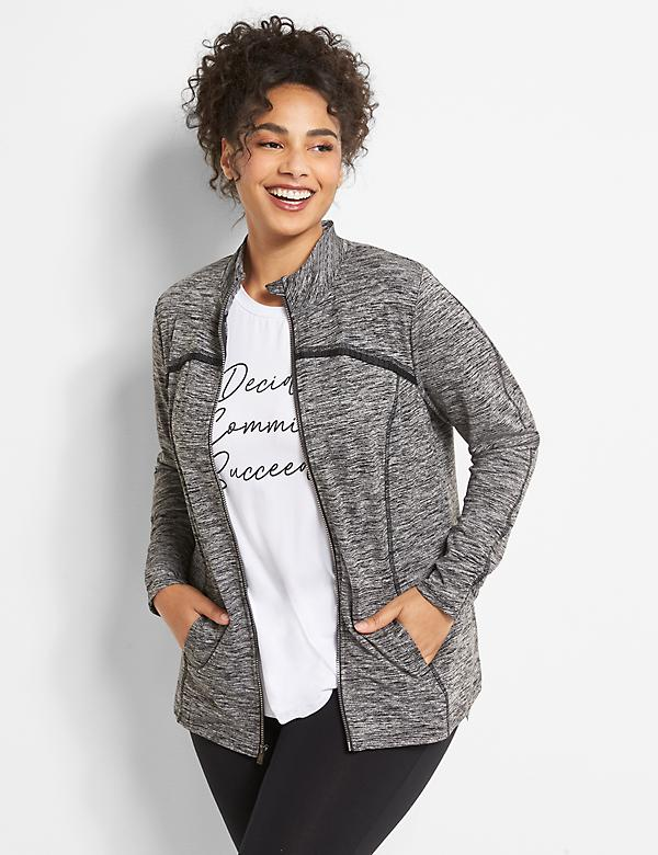 LIVI Pleat-Trim Jacket With Wicking - Spacedye