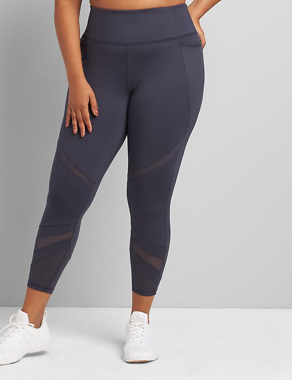 LIVI 7/8 Power Legging With Wicking - Mesh Splicing