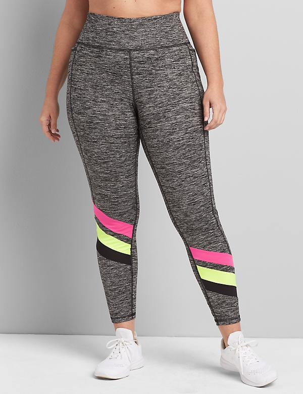 LIVI 7/8 Power Legging With Wicking Spacedye & Colorblocking