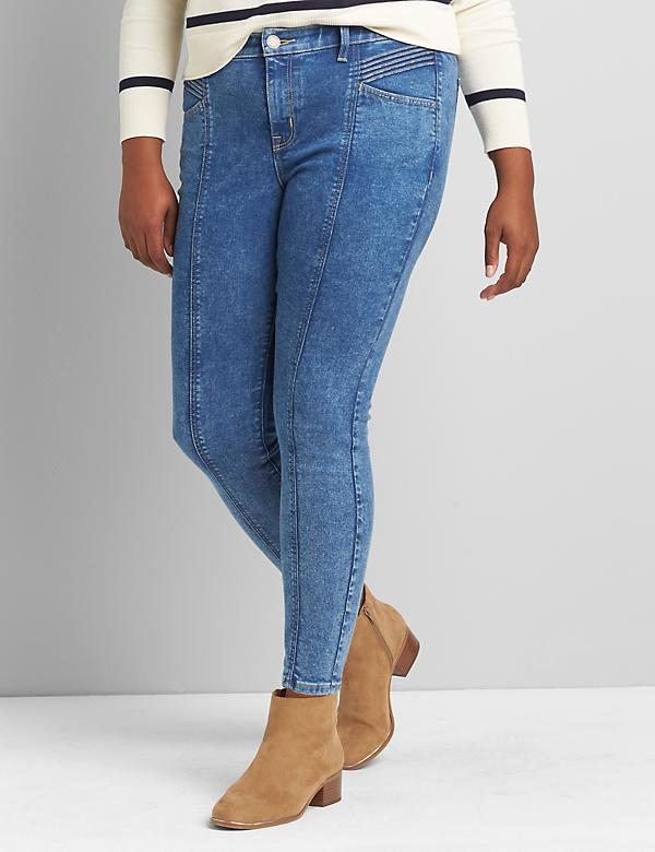 Signature Fit High-Rise Skinny Jean - Seamed Medium Wash