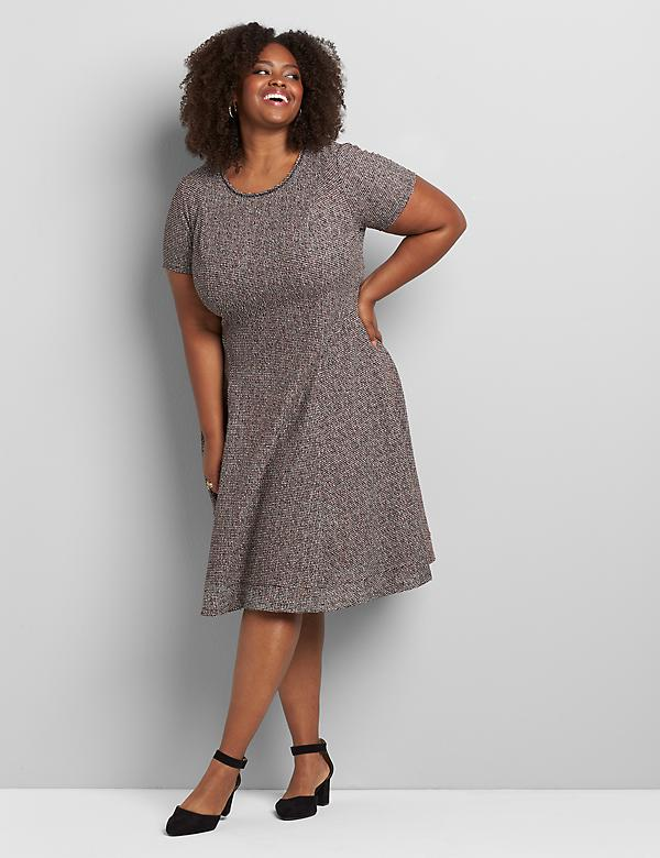 Boucle Fit & Flare Dress
