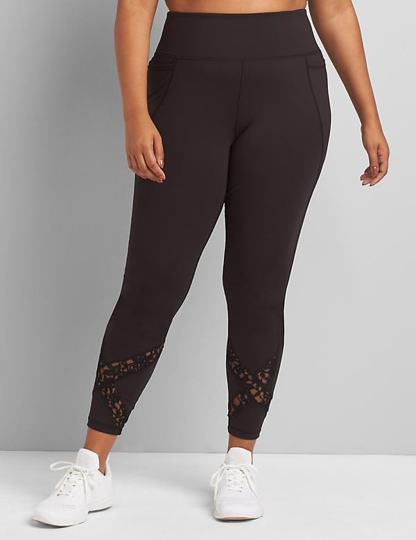LIVI 7/8 Power Legging With Wicking - Lace Inset