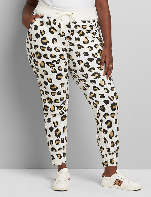 LIVI Metro Jogger Pant - Metallic Animal Print French Terry