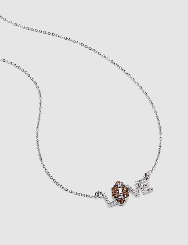 Football & Love Pendant Necklace