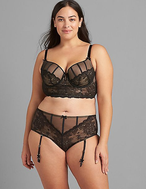 Lace Lightly-Lined Longline Balconette Bra