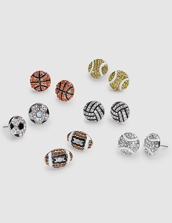 Sparkling & Sporty Stud Earrings 6-Pack