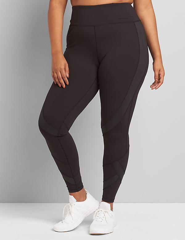 LIVI 7/8 Power Legging With Wicking - Shine Spliced