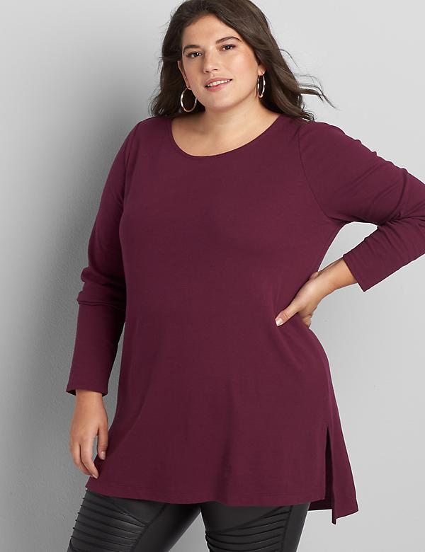 Long-Sleeve Boatneck Tunic
