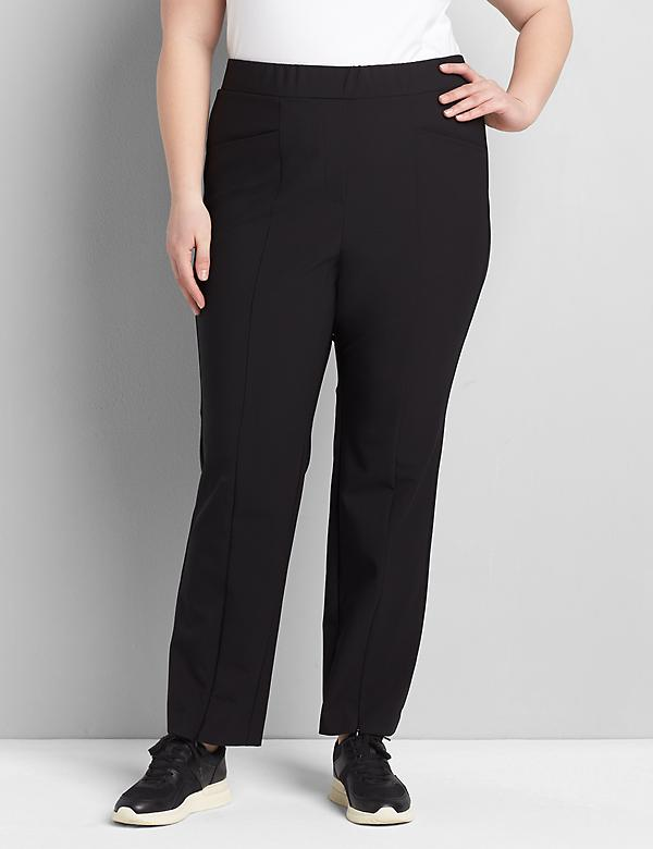On-The-Go Straight Pant With Zip-Front Hem