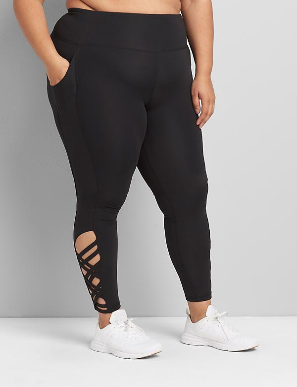 LIVI Soft 7/8 Legging - Strappy Hem