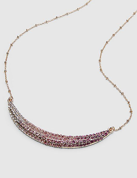 Ombra Pave Bar Necklace