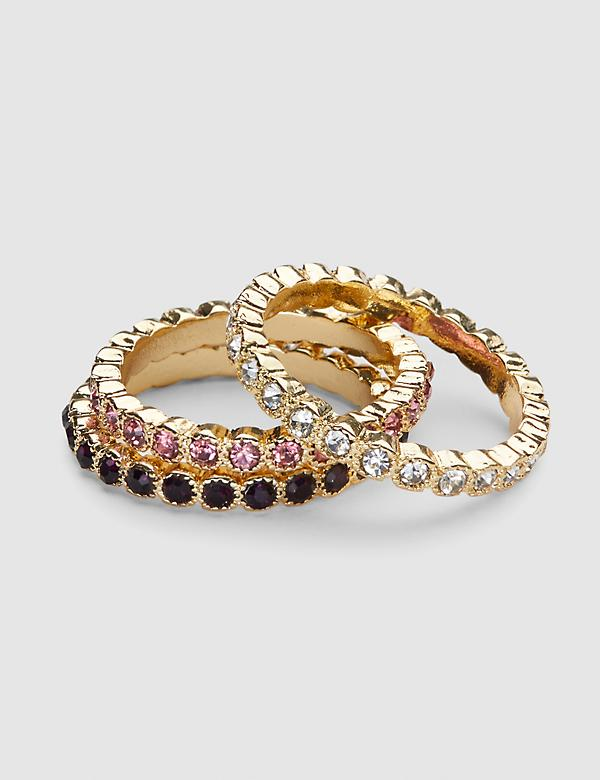 Plum Stone Stackable Ring Set