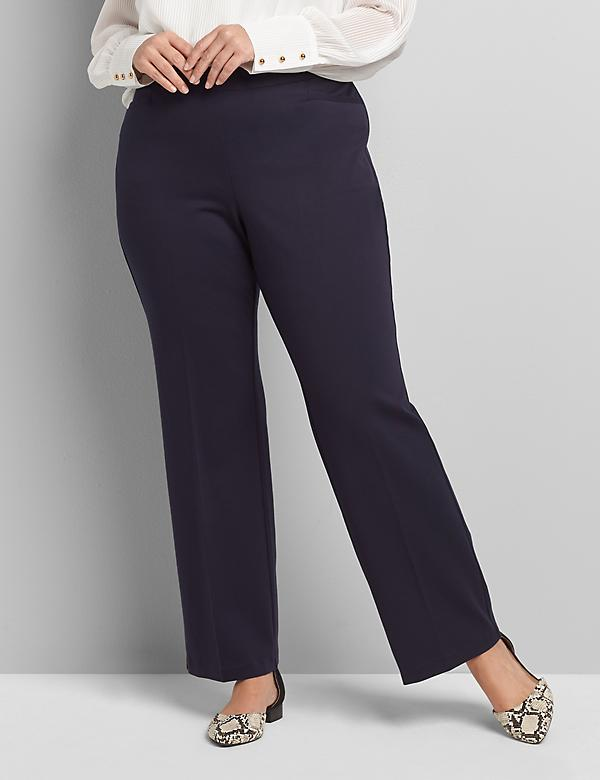 Pull-On Ponte Trouser Pant