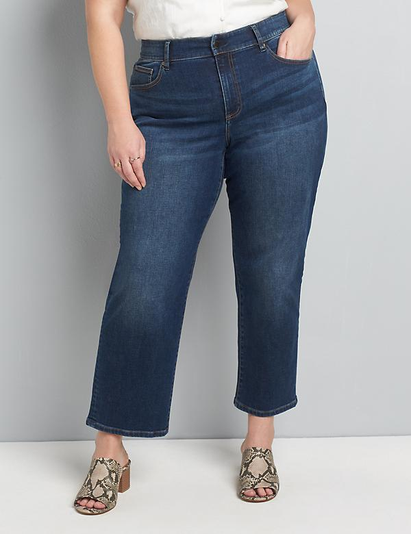 Curvy Fit High-Rise Girlfriend Straight Jean - Dark Wash