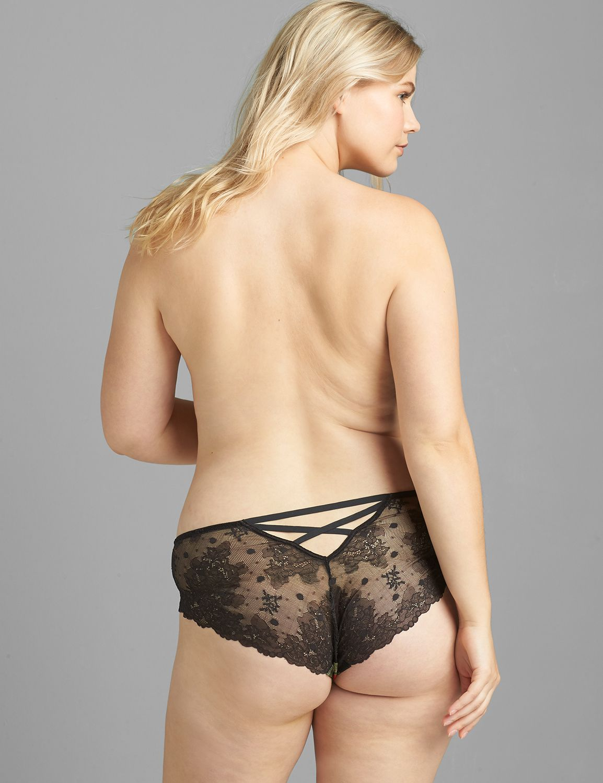 Lane Bryant Women's Lace-Back Cheeky Panty 22/24 Romantic Rose