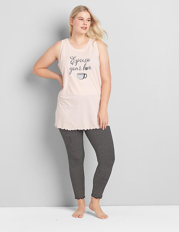 Graphic Tank & Legging PJ Set