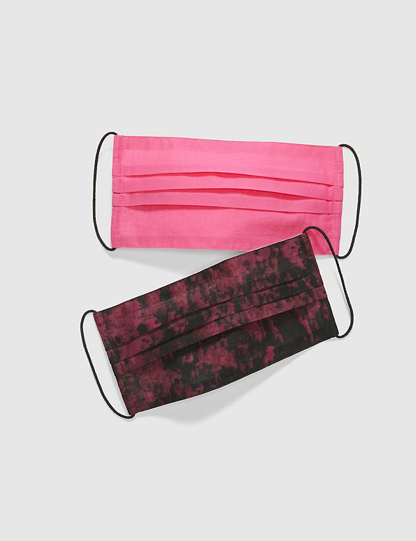 General Purpose Face Masks 2-Pack - Printed Pink & Magenta