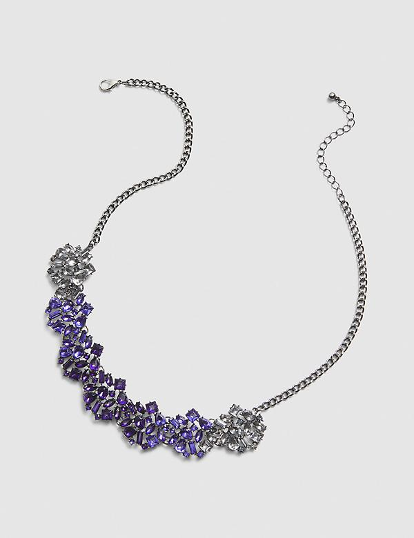Ombre Statement Necklace - Purple