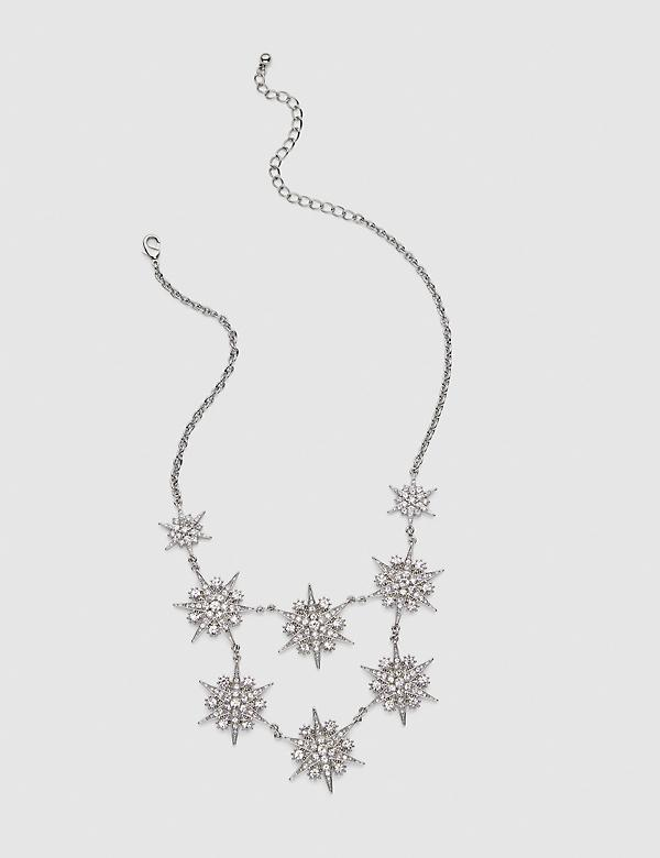 Pave-Embellished Starburst Statement Necklace
