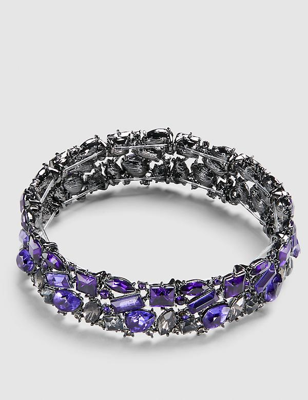 Ombre Stretch Bracelet - Purple