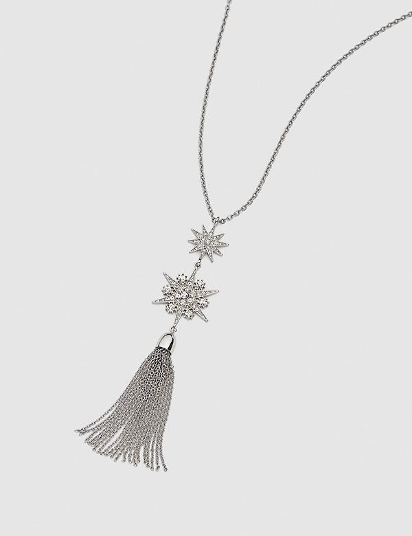 Starburst Tassel Pendant Necklace