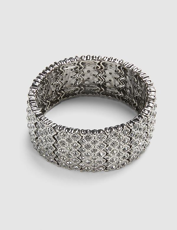Pave-Embellished Beaded Stretch Bracelet
