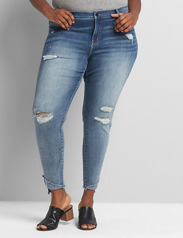 Signature Fit High-Rise Skinny Jean - Ripped Medium Wash