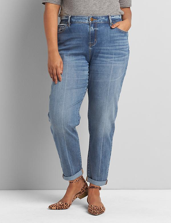 Signature Fit Boyfriend Jean - Medium Wash