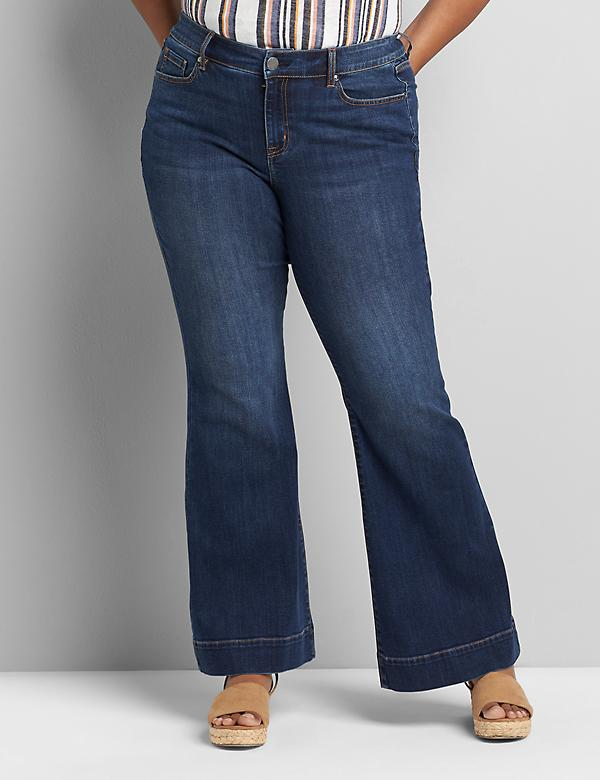 Signature Fit Flare Jean - Dark Wash