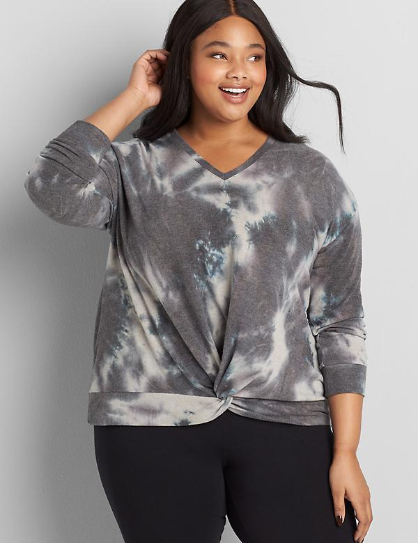 LIVI Twist-Knot Top - Tie-Dye
