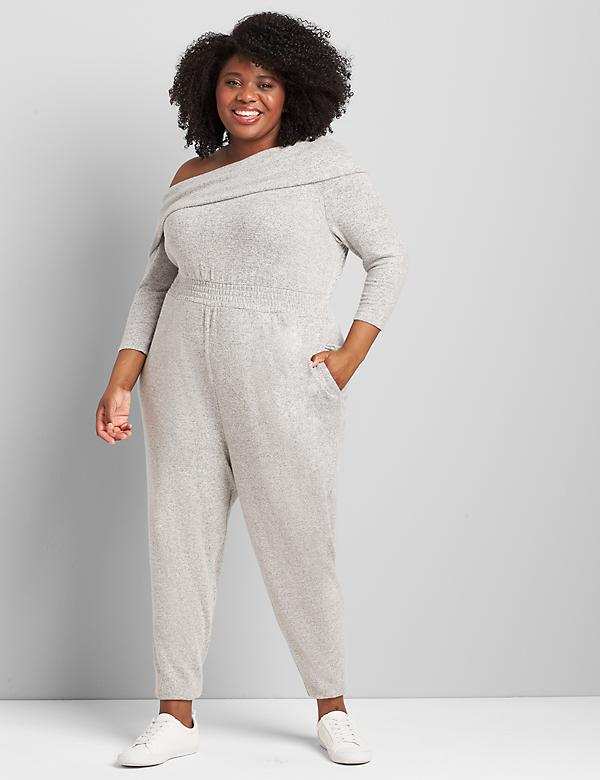 Softest Touch Convertible-Shoulder Jumpsuit