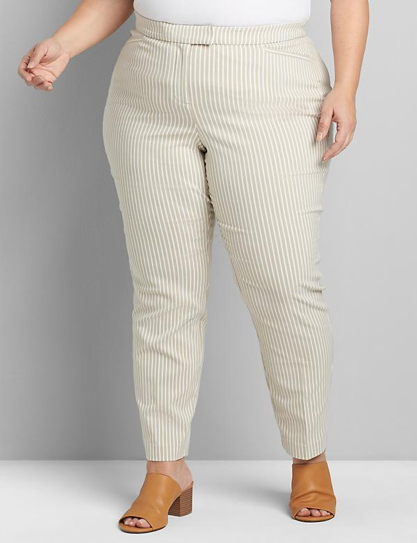 Lane Essentials Madison Ankle Pant - Striped