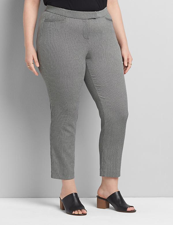 Lane Essentials Madison Ankle Pant - Textured Pattern