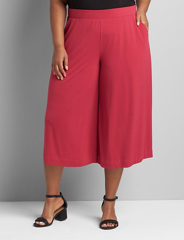 Knit Kit Pull-On Wide Leg Capri