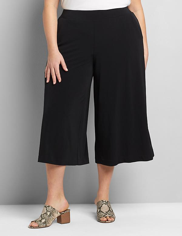 Knit Kit Pull-On Wide Leg Capri Pant