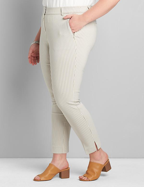 Signature Fit Slim Ankle 4-Season Pant - Striped