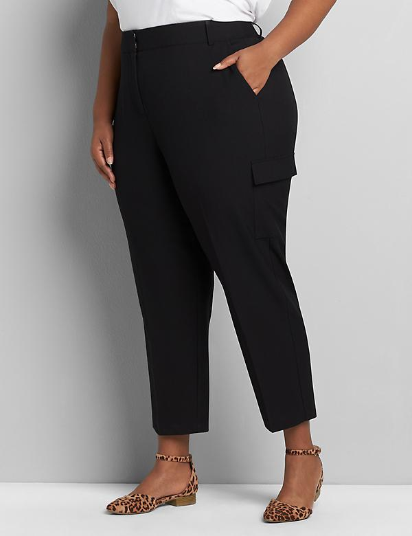 Perfect Drape Relaxed Ankle Pant - Cargo