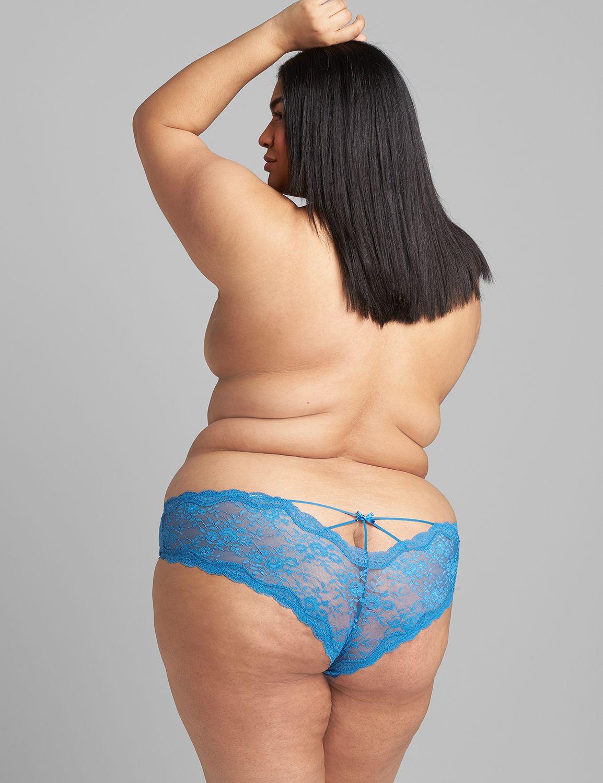 Lane Bryant Women's Allover Lace Cheeky Panty 26/28 Vallarta Blue