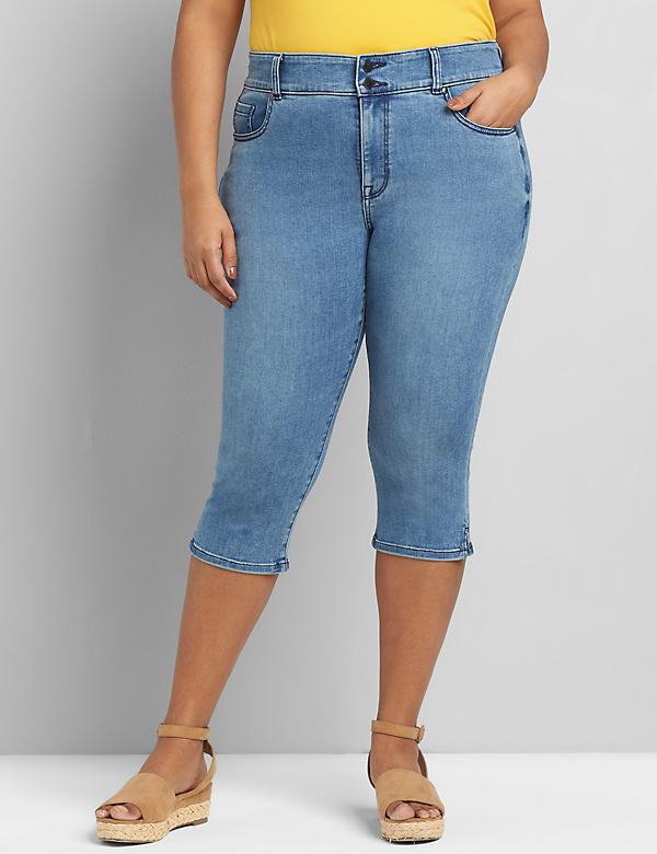 Tighter Tummy High-Rise Pedal Jean - Medium Wash