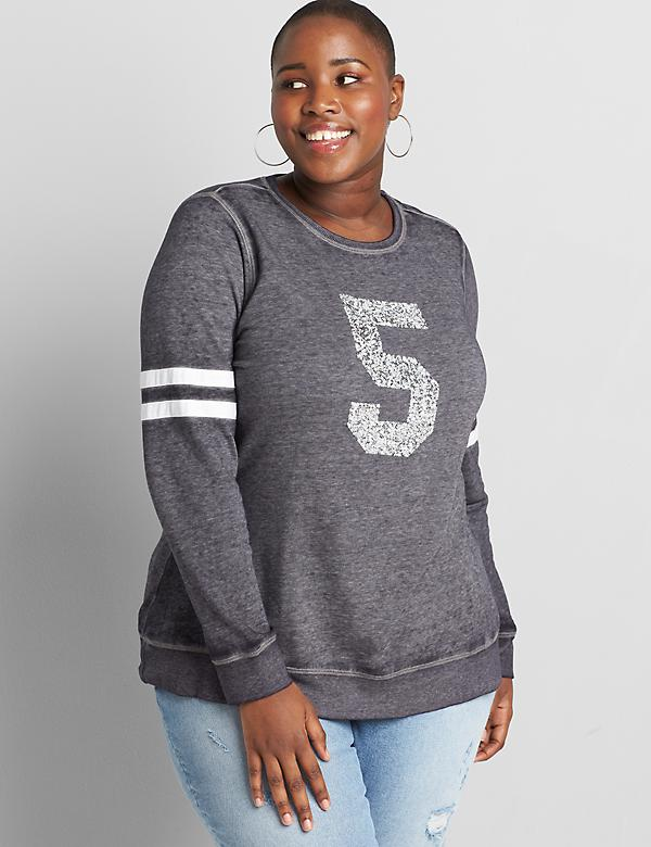 Embellished Five Graphic Sweatshirt