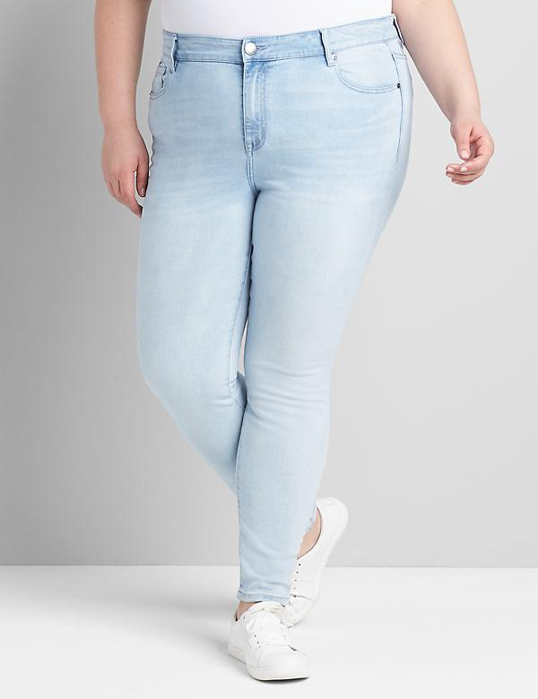 Straight Fit High-Rise Skinny Jean -Light Wash