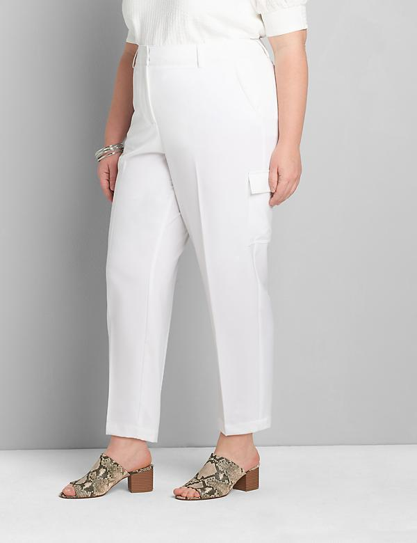 Perfect Drape Relaxed Ankle Pant - White Cargo