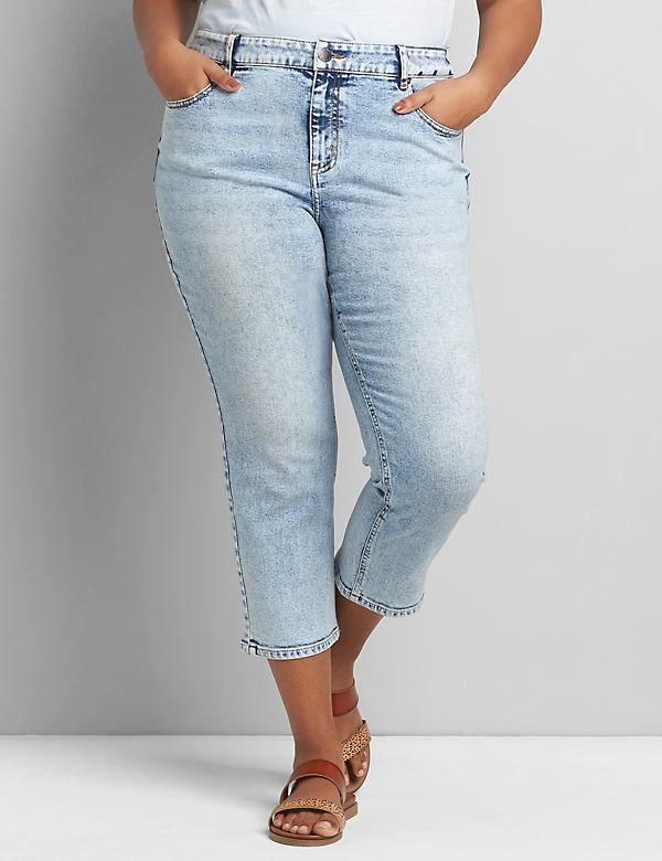 Signature Fit High-Rise Girlfriend Straight Crop - Light Wash