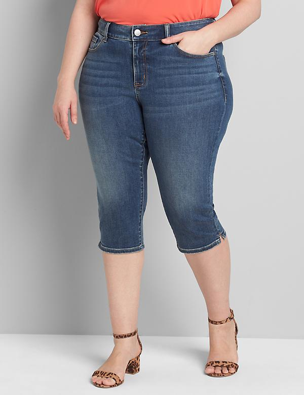 Curvy Fit High-Rise Pedal Jean - Medium Wash