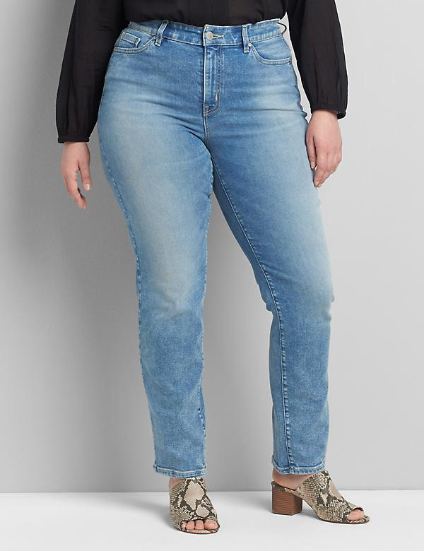 Curvy Fit High-Rise Straight Jean - Light Wash