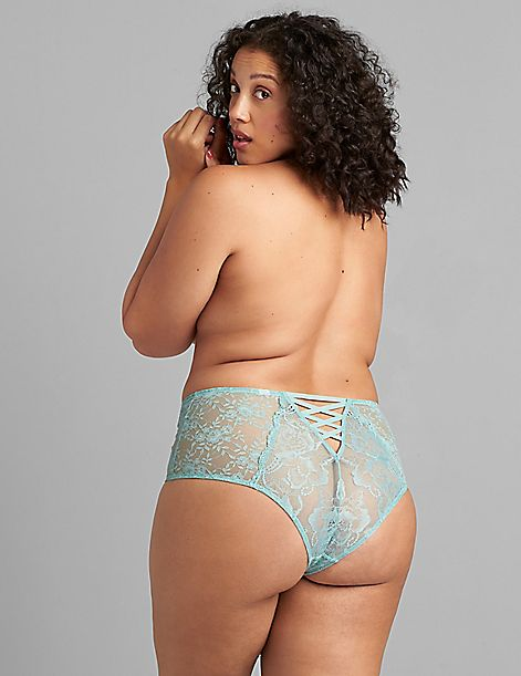 Lace Mid-Waist Cheeky Panty