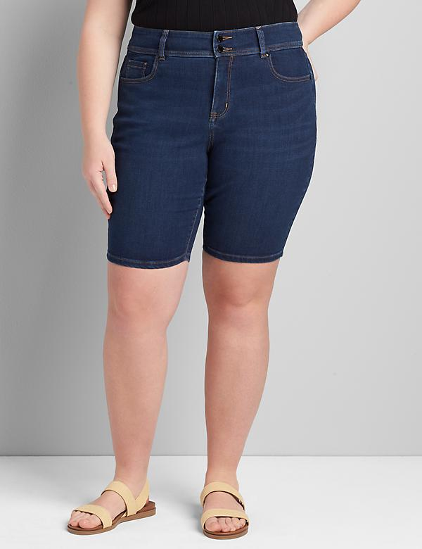 Tighter Tummy High-Rise Bermuda Short - Dark Wash