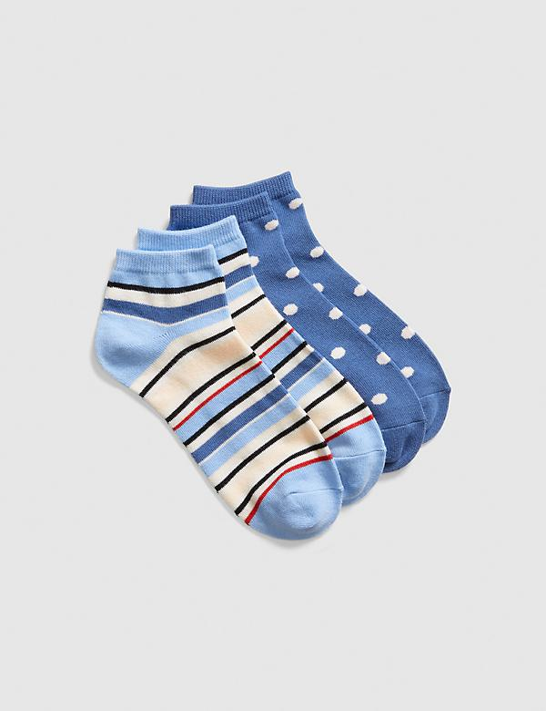 2-Pack Ankle Sock - Stripes & Dots